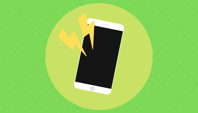 落ちる iphone 電源